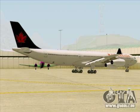 Airbus A340-313 Air Canada für GTA San Andreas rechten Ansicht