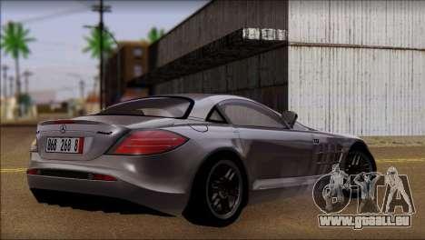 Mercedes-Benz SLR 722 pour GTA San Andreas laissé vue