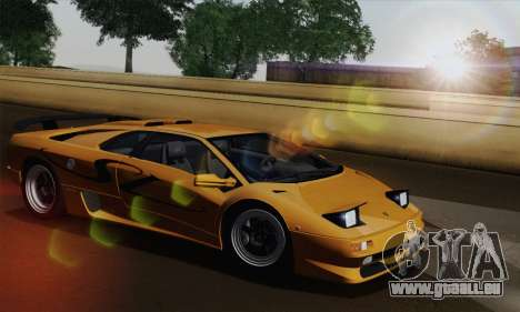 Lamborghini Diablo SV 1995 (HQLM) pour GTA San Andreas vue de droite