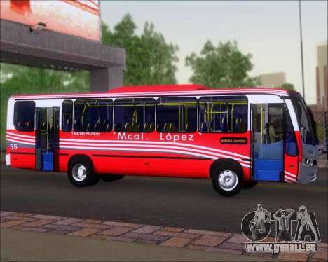Neobus Spectrum Linea 38 Mcal. Lopez pour GTA San Andreas vue arrière