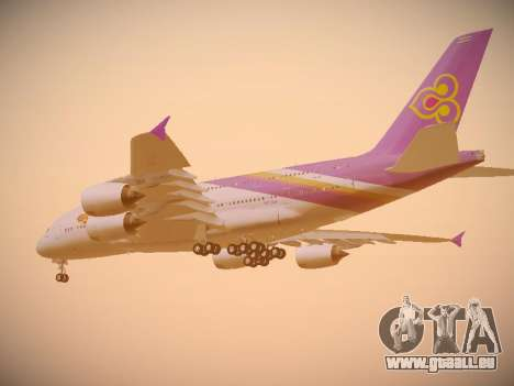 Airbus A380-800 Thai Airways International für GTA San Andreas Rückansicht