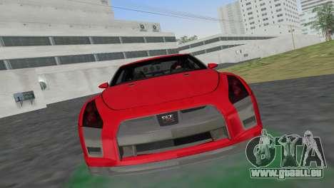 Nissan GT-R Prototype pour GTA Vice City sur la vue arrière gauche