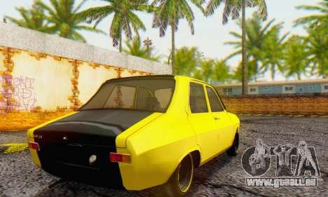 Dacia 1300 Old School pour GTA San Andreas sur la vue arrière gauche