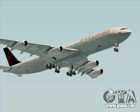 Airbus A340-313 Air Canada für GTA San Andreas Rückansicht