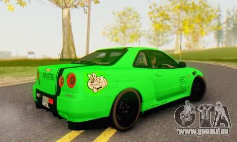 Nissan Skyline GT-R 34 für GTA San Andreas linke Ansicht