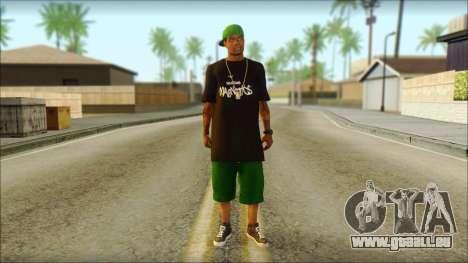 New Grove Street Family Skin v3 für GTA San Andreas
