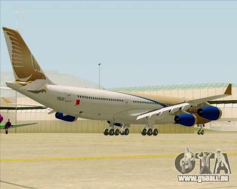 Airbus A340-313 Gulf Air pour GTA San Andreas vue arrière
