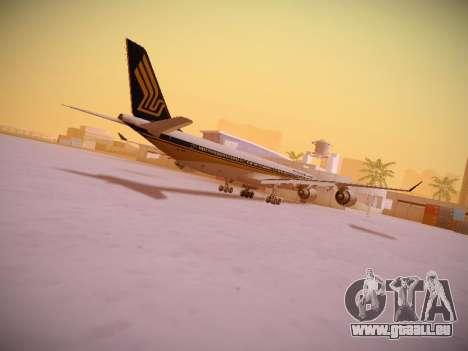 Airbus A340-600 Singapore Airlines für GTA San Andreas Innen