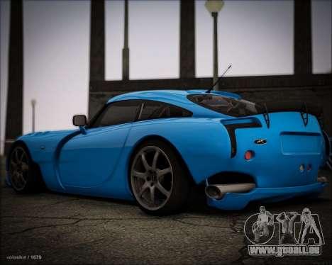 TVR Sagaris 2005 pour GTA San Andreas sur la vue arrière gauche