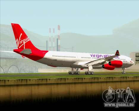Airbus A340-313 Virgin Atlantic Airways für GTA San Andreas zurück linke Ansicht