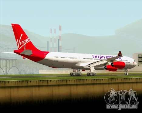 Airbus A340-313 Virgin Atlantic Airways für GTA San Andreas zurück linke Ansicht
