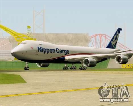 Boeing 747-8 Cargo Nippon Cargo Airlines für GTA San Andreas linke Ansicht