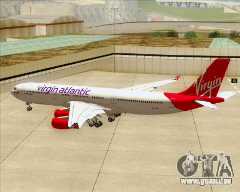 Airbus A340-313 Virgin Atlantic Airways pour GTA San Andreas roue