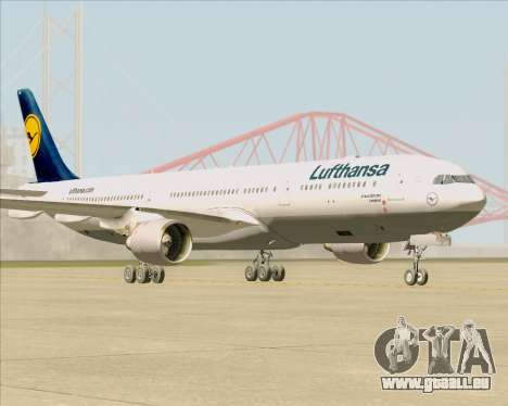 Airbus A330-300 Lufthansa für GTA San Andreas zurück linke Ansicht