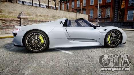 Porsche 918 Spyder 2015 pour GTA 4 est une gauche