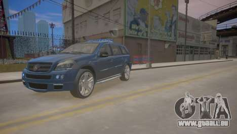 Mercedes-Benz GL450 AMG Police Interceptor 2013 für GTA 4 linke Ansicht