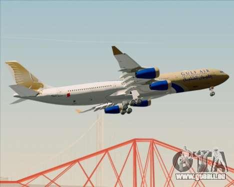 Airbus A340-313 Gulf Air pour GTA San Andreas vue de côté