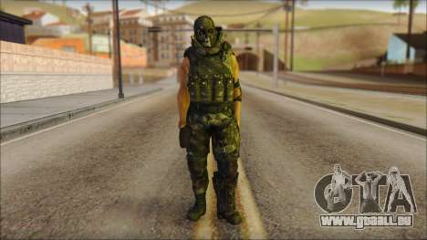 Claude Resurrection Skin from COD 5 v2 für GTA San Andreas