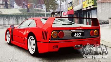 Ferrari F40 1987 pour GTA 4 est une gauche