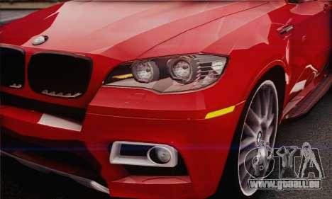 BMW X6M 2013 v3.0 für GTA San Andreas Rückansicht