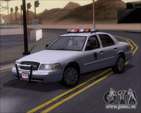 Ford Crown Victoria Tallmadge Battalion Chief 2 pour GTA San Andreas laissé vue