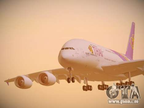 Airbus A380-800 Thai Airways International für GTA San Andreas Seitenansicht