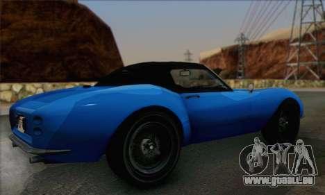 Grotti Stinger 1.0 (HQLM) pour GTA San Andreas laissé vue