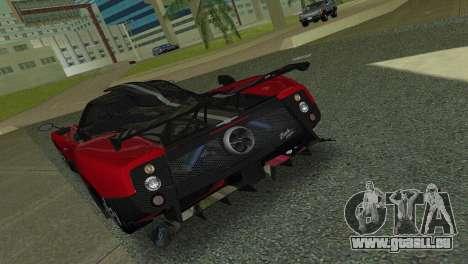 Pagani Zonda Cinque pour une vue GTA Vice City de la droite