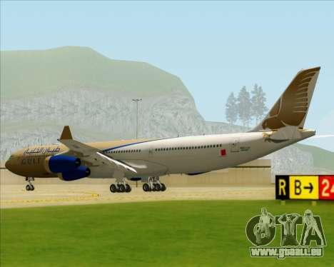 Airbus A340-313 Gulf Air pour GTA San Andreas vue de droite