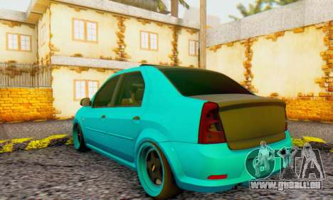 Dacia Logan Pearl Blue pour GTA San Andreas vue de droite
