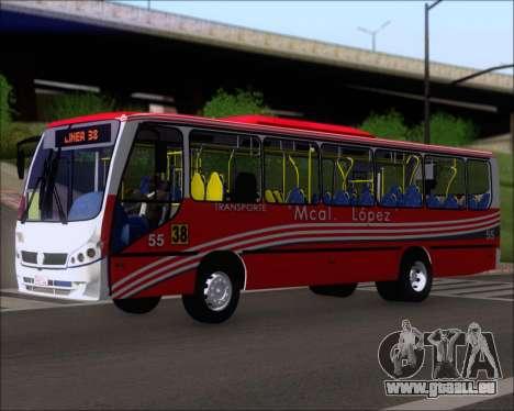 Neobus Spectrum Linea 38 Mcal. Lopez pour GTA San Andreas laissé vue