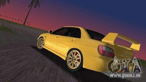 Subaru Impreza WRX 2002 Type 1 pour une vue GTA Vice City de la gauche