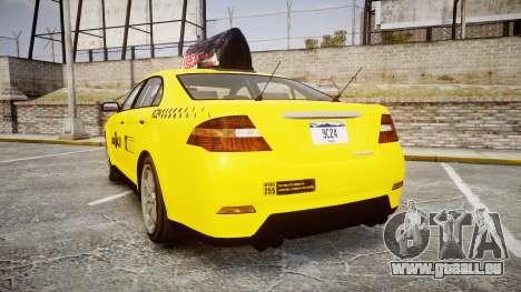 GTA V Vapid Taurus Taxi LCC für GTA 4 hinten links Ansicht