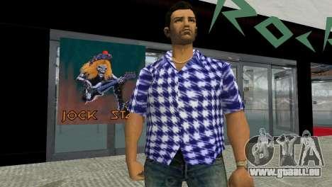 Kockas polo - sotetkek T-Shirt für GTA Vice City