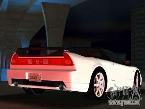 Honda NSX-R für GTA Vice City Rückansicht