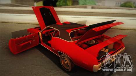 Plymouth GTX Tuned 1972 v2.3 pour GTA San Andreas vue de côté