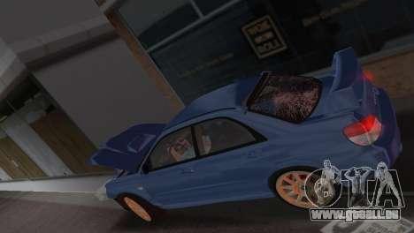 Subaru Impreza WRX STI 2006 Type 1 pour une vue GTA Vice City d'en haut