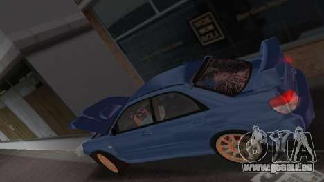 Subaru Impreza WRX STI 2006 Type 1 für GTA Vice City obere Ansicht