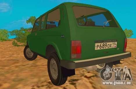 VAZ-2129 Niva 4x4 pour GTA San Andreas sur la vue arrière gauche