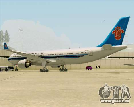 Airbus A330-300 China Southern Airlines pour GTA San Andreas vue arrière