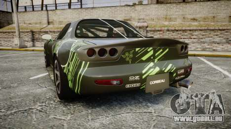 Mazda RX-7 Razer für GTA 4 hinten links Ansicht