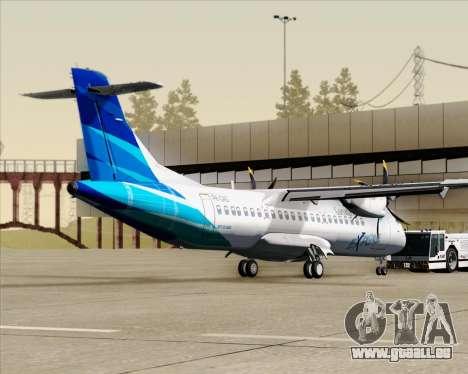 ATR 72-500 Garuda Indonesia Explore für GTA San Andreas zurück linke Ansicht