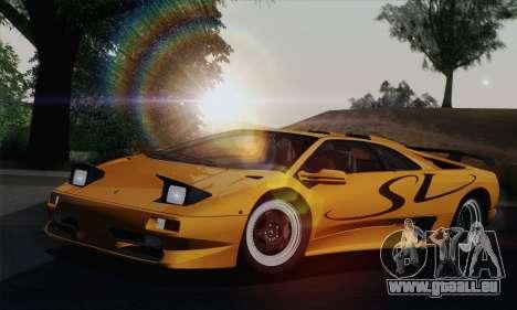Lamborghini Diablo SV 1995 (HQLM) pour GTA San Andreas vue intérieure