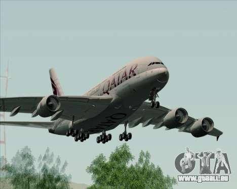 Airbus A380-861 Qatar Airways für GTA San Andreas rechten Ansicht