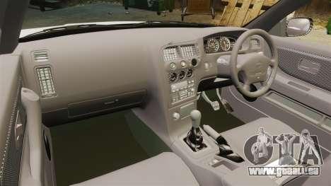 Nissan Skyline R33 1995 Infinite Stratos für GTA 4 Rückansicht
