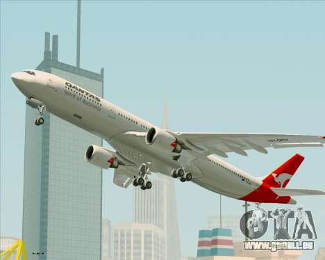 Airbus A330-300 Qantas pour GTA San Andreas moteur