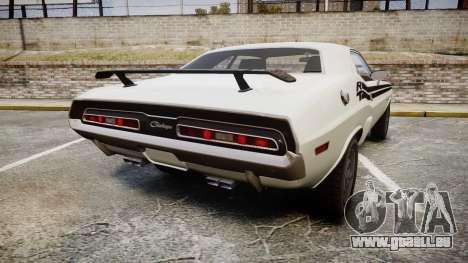 Dodge Challenger 1971 v2.2 PJ1 pour GTA 4 Vue arrière de la gauche