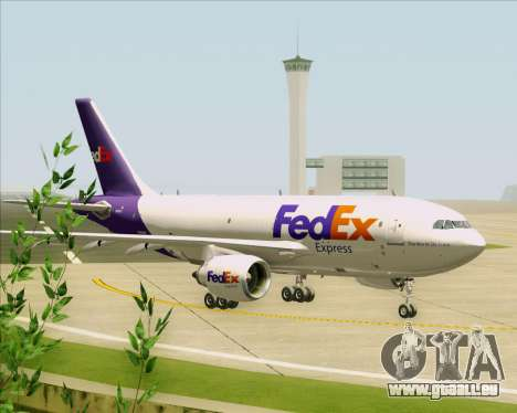 Airbus A310-300 Federal Express für GTA San Andreas Rückansicht