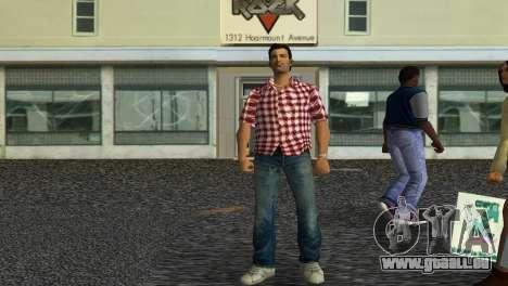 Kockas polo - piros T-Shirt pour GTA Vice City