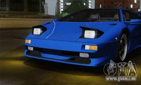 Lamborghini Diablo SV 1995 (ImVehFT) pour GTA San Andreas vue intérieure